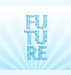 future banner with title and coly space for vector image