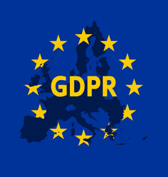 General data protection regulation eu flag with vector