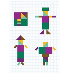 Geometric shapes people vector