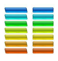 glassy buttons vector image