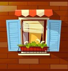House facade cartoon of old vector