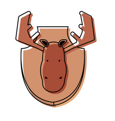 Hunting trophy icon vector