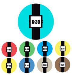icon watches on colored backgrounds vector image