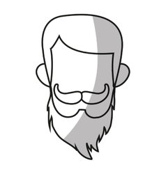Isolated hipster man design vector