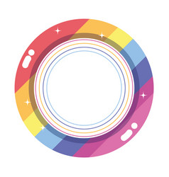 Isolated lgtbi seal stamp design vector