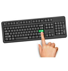Keyboard education learn vector