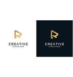Letter r logo design symbol vector