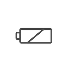 line battery icon vector image