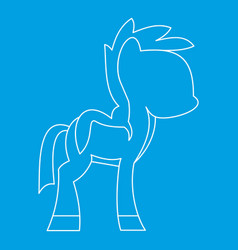 Little pony icon outline style vector