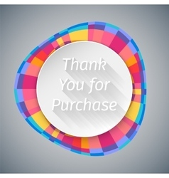 Low Poly Round Thank You Banner vector image
