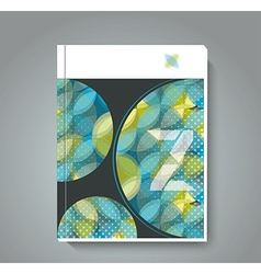 Magazine cover with pattern of geometric shapes vector image