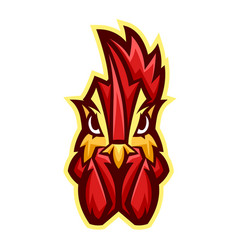 mascot stylized rooster head vector image