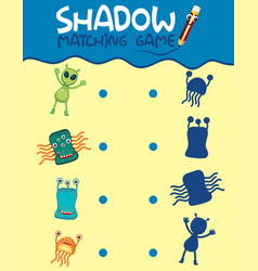 Matching monster shadow game vector