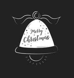 merry christmas lettering design and decoration vector image