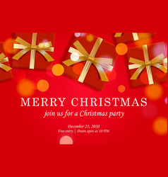 merry christmas web page template vector image