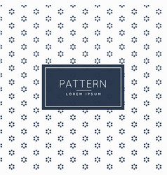 Minimal subtle flower pattern background vector