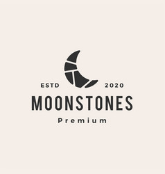 Moon stones hipster vintage logo icon vector