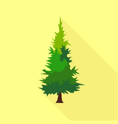 Mountain tree icon flat style vector