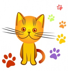 Naughty kitten character vector