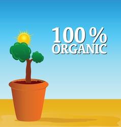 organic nature vector image