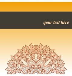 Ornate frame with sample text Orange vector