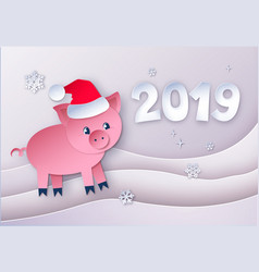 paper cut style new year vector image