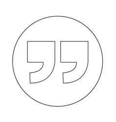 Quotation mark symbol icon design vector