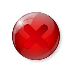 Red Check Mark Icon Button vector image