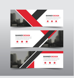 Red triangle abstract corporate business banner vector