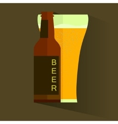 Retro beer poster label or banner vector image