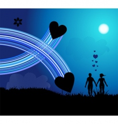 romantic walk vector image