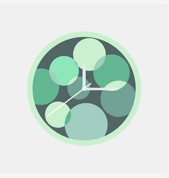 round green wall clock isolated vector image