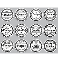 Set nice old fashioned icon vector image