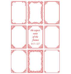 Set rectangular frames in vintage style vector