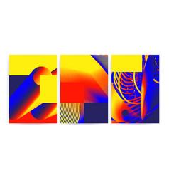 universal trend gradient geometric posters vector image