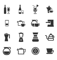 Utensils for the preparation of beverages vector