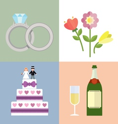 Wedding accessories Set I vector