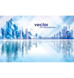 Abstract Modern City Background vector image vector image