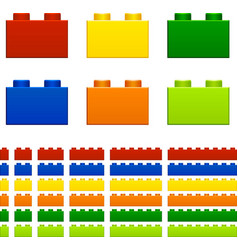 children plastic bricks toy vector image