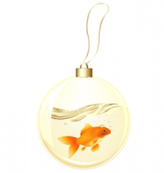 golden ball with goldfish vector image vector image