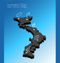 map japan isometric concept vector image
