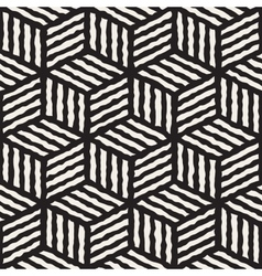 Seamless Geometric Stripes Cube Pattern vector image vector image