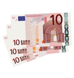 10 euro bills vector