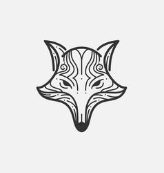 Fox Line Mono vector image