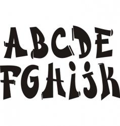 graffiti font vector image vector image