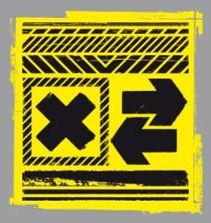 hazard elements vector image