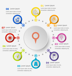 infographic template with location icons vector image