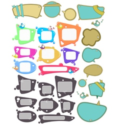speech bubbles big set vector image