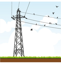 transmission tower vector image