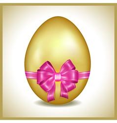 Golden Easter egg isolated vector image